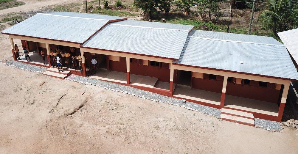Wurudu Wurudu new classroom block. Completed in 2017.