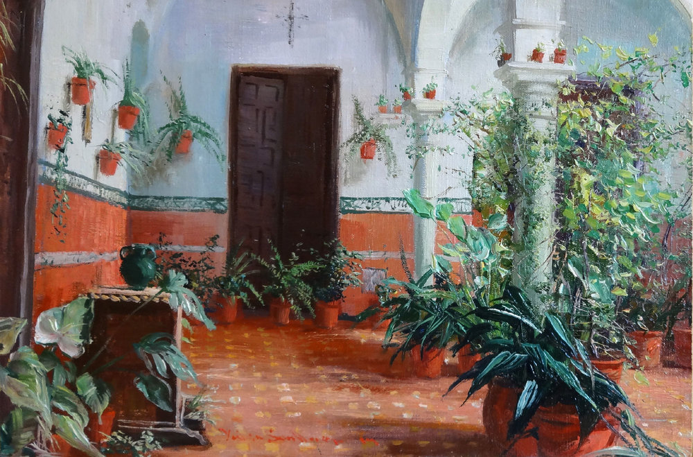 PATIO DEL JARDIN oil, 12 x 8 in.