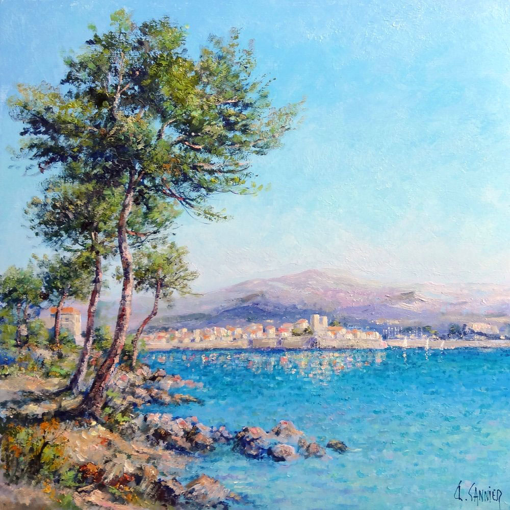 ANTIBES, JUAN LES PINS  oil, 24 x 24 in.