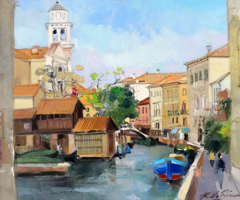 VENISE L'ENGLISE SANT TRAVASO  oil, 22 x 18 in.