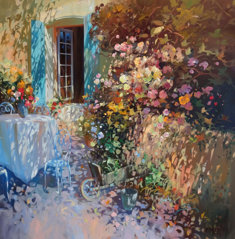 LA TABLE SOUS LA FENÊTRE  oil, 32 x 32 in.