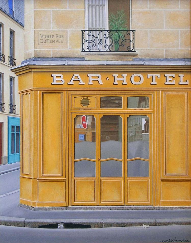 BAR - HOTEL  oil, 13 x 16 in.