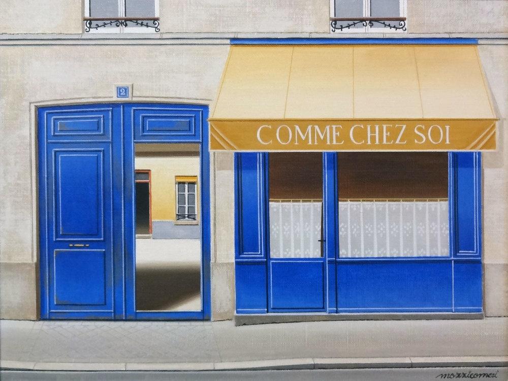 COMMECHEZ SOI PARIS  oi, 14 x 11 in.
