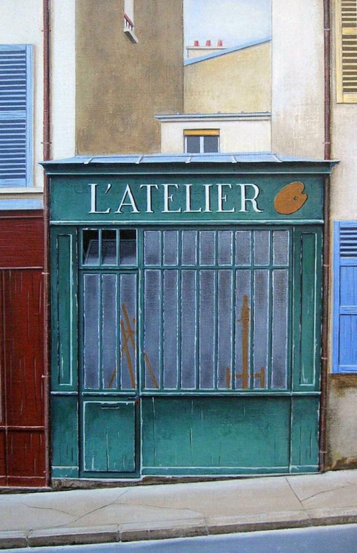 L'ATELIER  oil, 10 x 14 in.