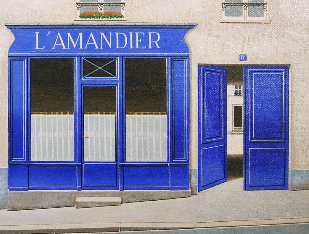 L'AMANDIER  oil, 14 x 11 in.