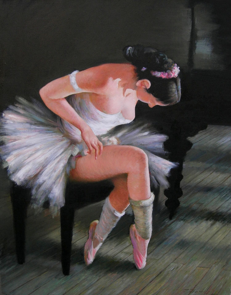PRIMA BALLERINA  oil, 32 x 40 in.