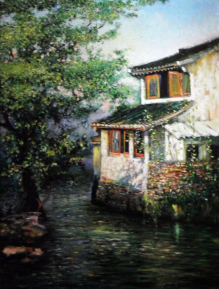 SUZHOU AFTERNOON  oil, 18 x 24 in.
