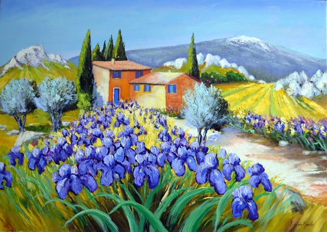 IRIS AU VENTOUX  oil, 28 x 20 in.