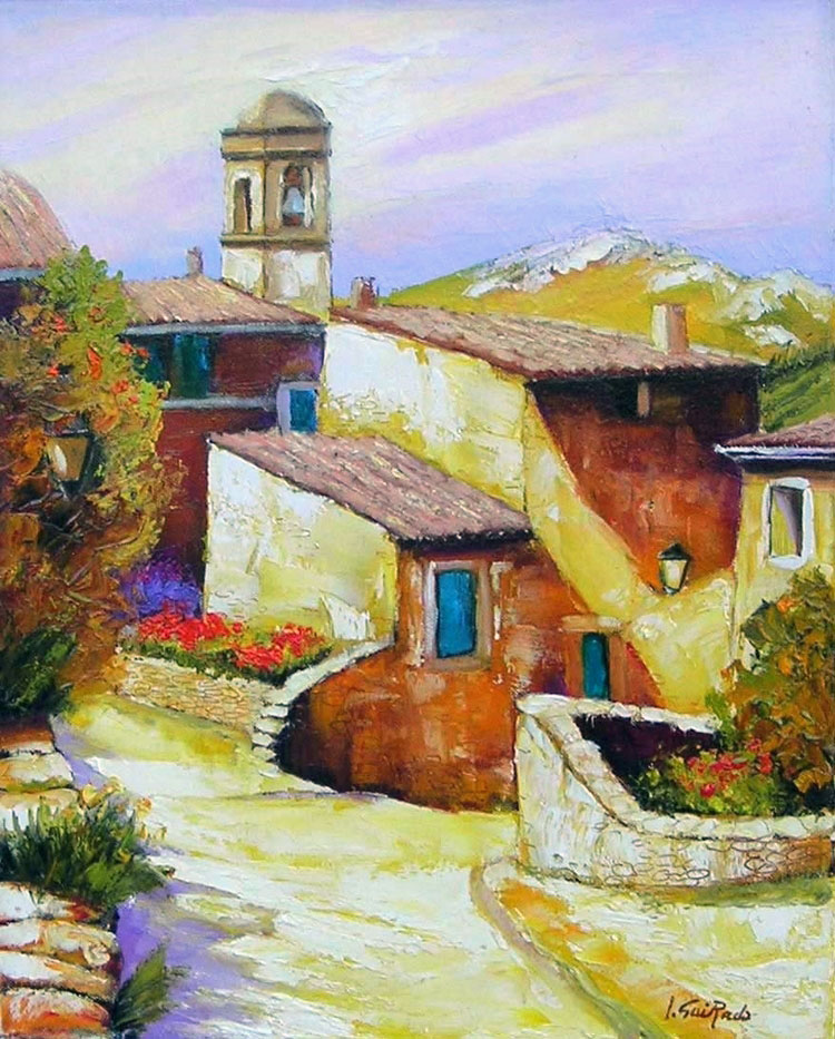 LA RUELLE oil, 13 x 16 in.