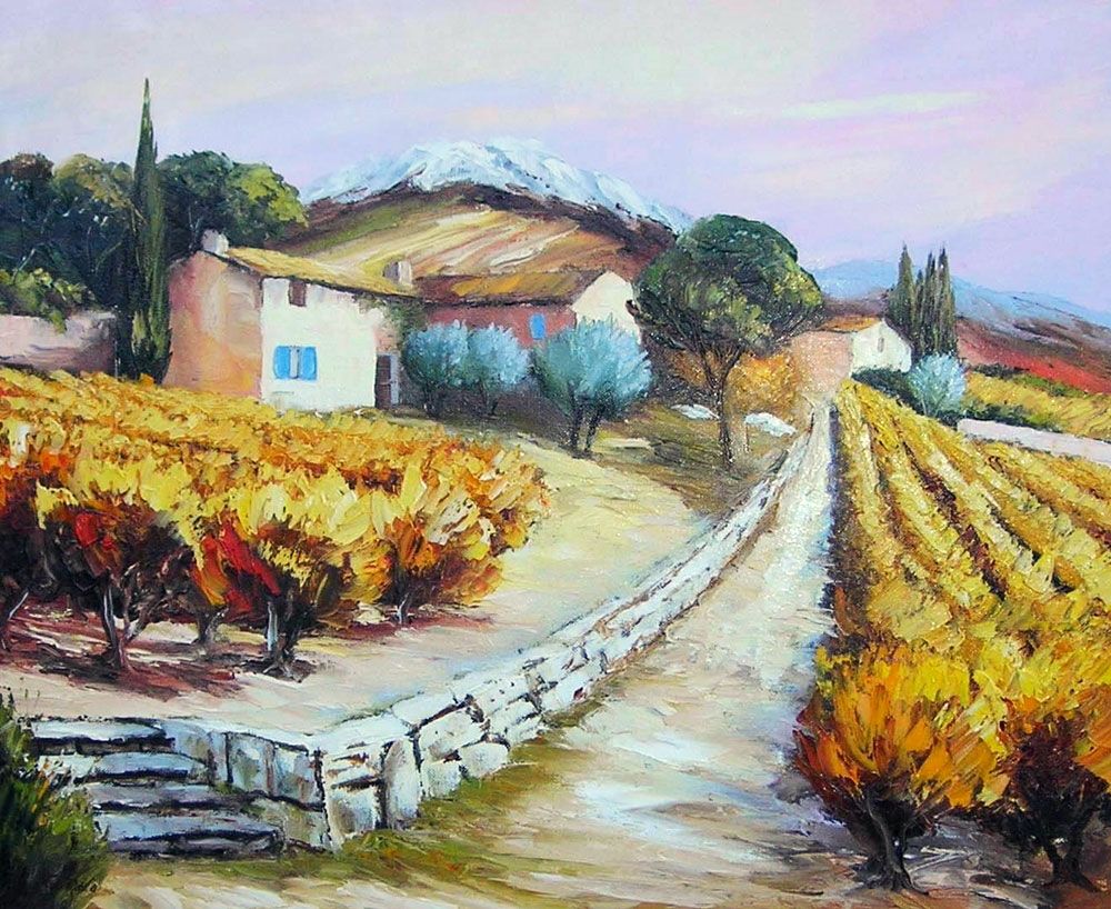 LE PETIT MURET  oil, 26 x 22 in.