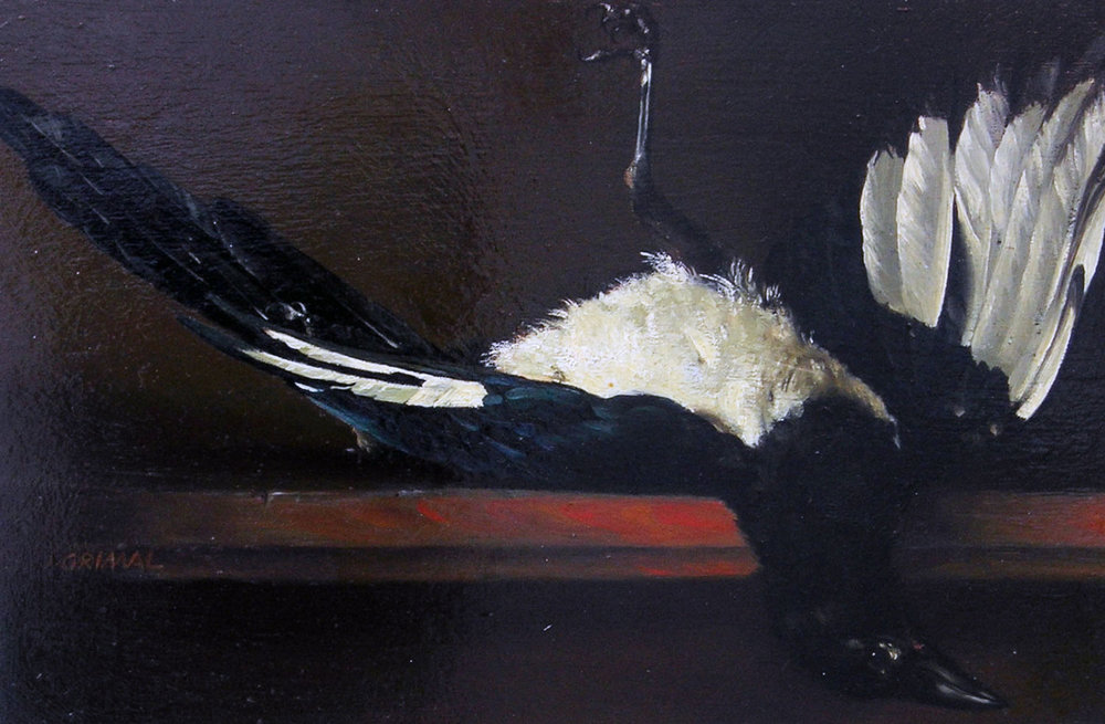 L'OISEAU oil, 13 x 9 in.