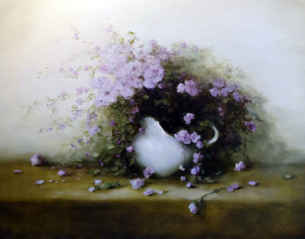 BLOSSOMS  oil, 30 x 24 in.