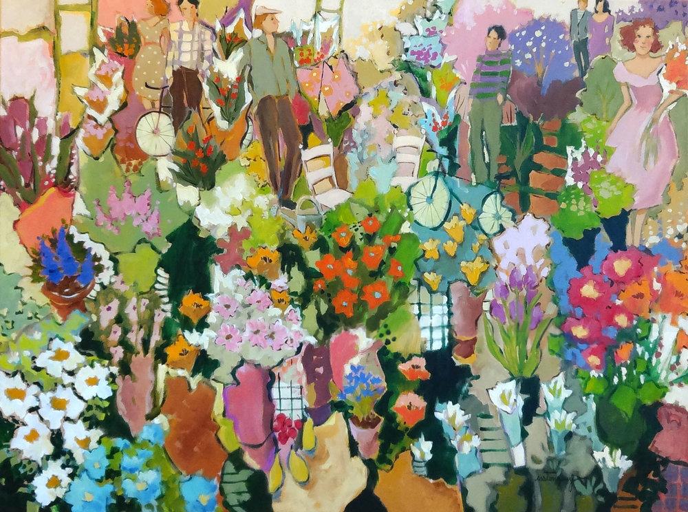 POUR LA MAGIE DES COULEURS acrylic, 40 x 30 in.