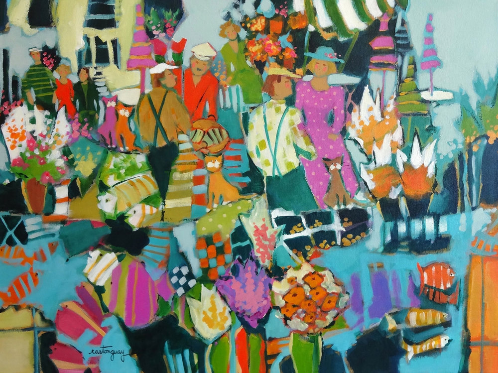 THE EXOTIC MARKET acrylic, 24 x 18 in.