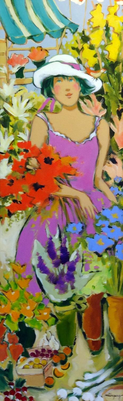 MATHILDE  acrylic, 12 x 36 in.