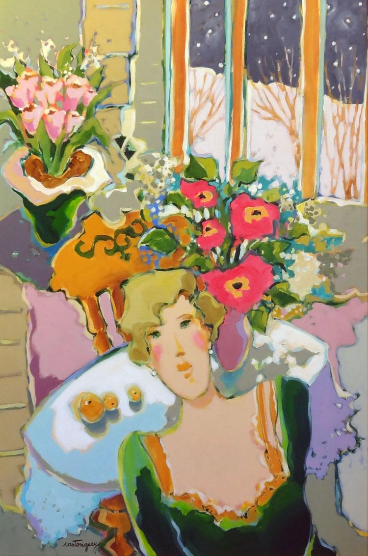 AVANT LES SOUVENIRS  acrylic, 24 x 36 in.
