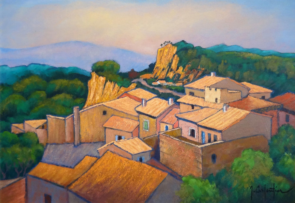 OCRE À ROUSSILLON  oil, 36 x 26 in.