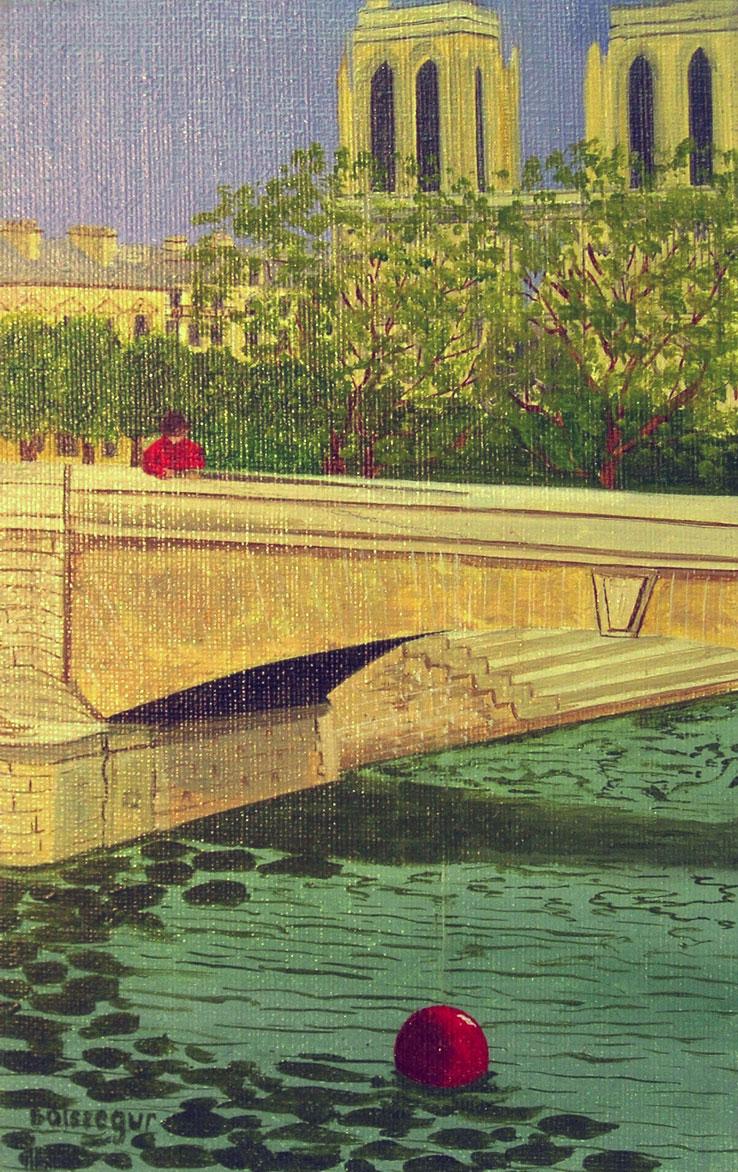 NOTRE DAME BRIDGE, PARIS  oil, 7 x 9 in.