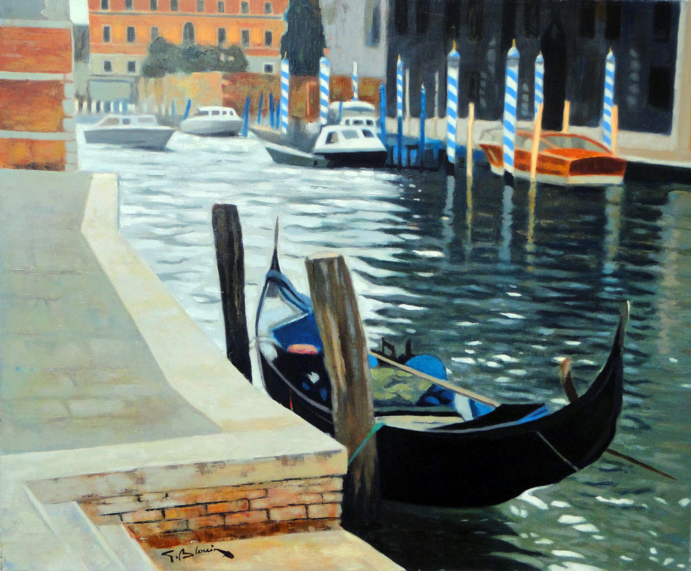 LA GONDOLE (VENISE) oil, 29 x 24 in.
