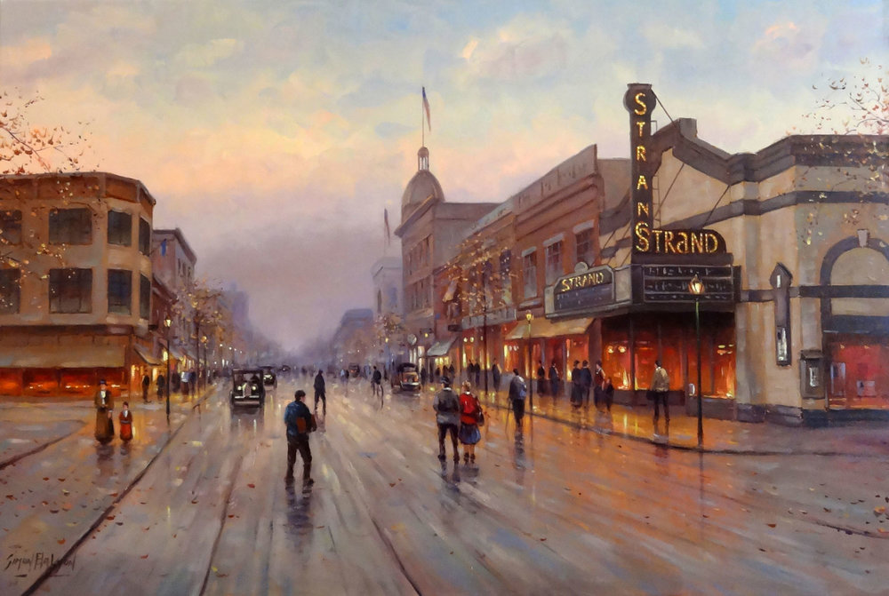 THE STRAND, OLD RED BANK  oil on canvas, 36 x 24 in.
