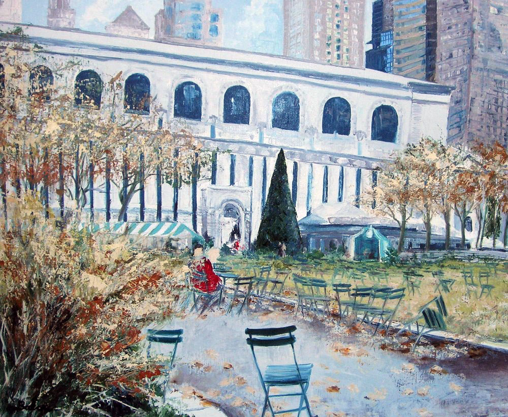JARDIN A NEW YORK  oil on canvas, 29 x 24 in.