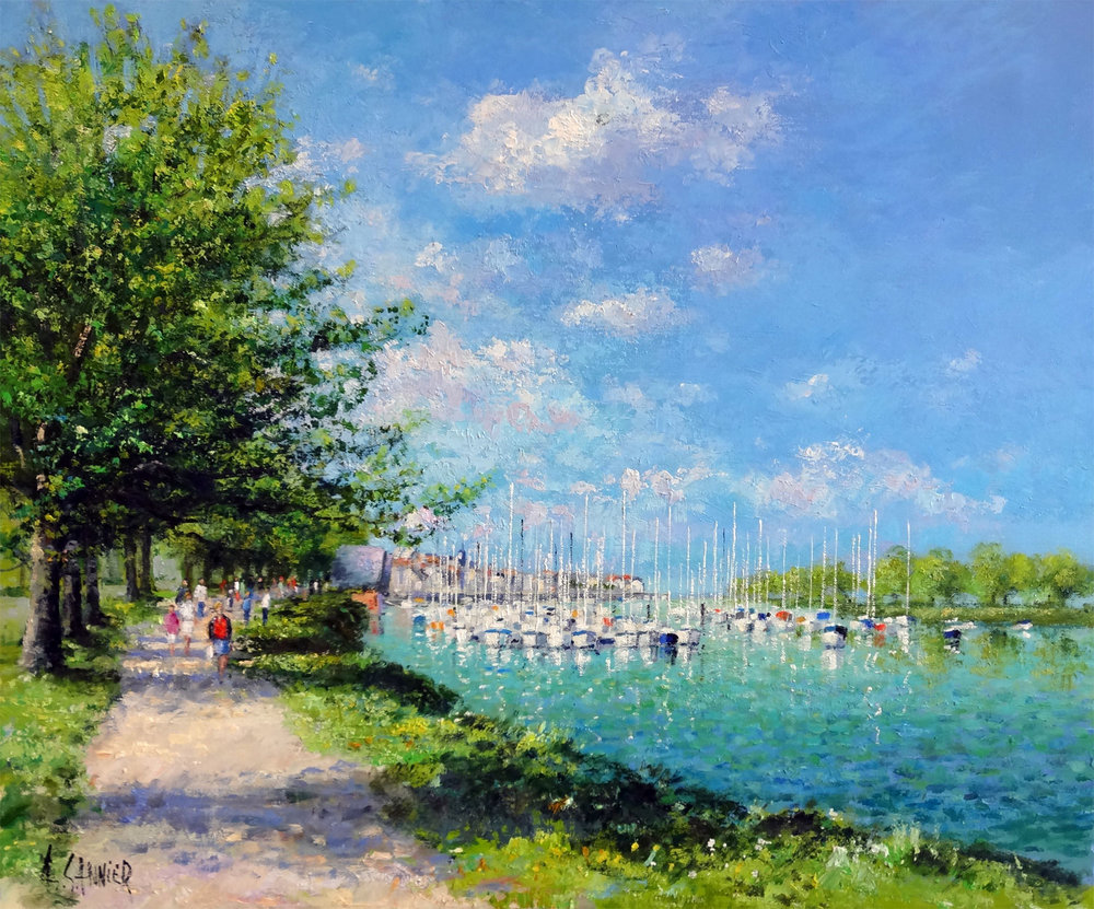 St Valery le Port de Plaisance, 26 x 21 in.
