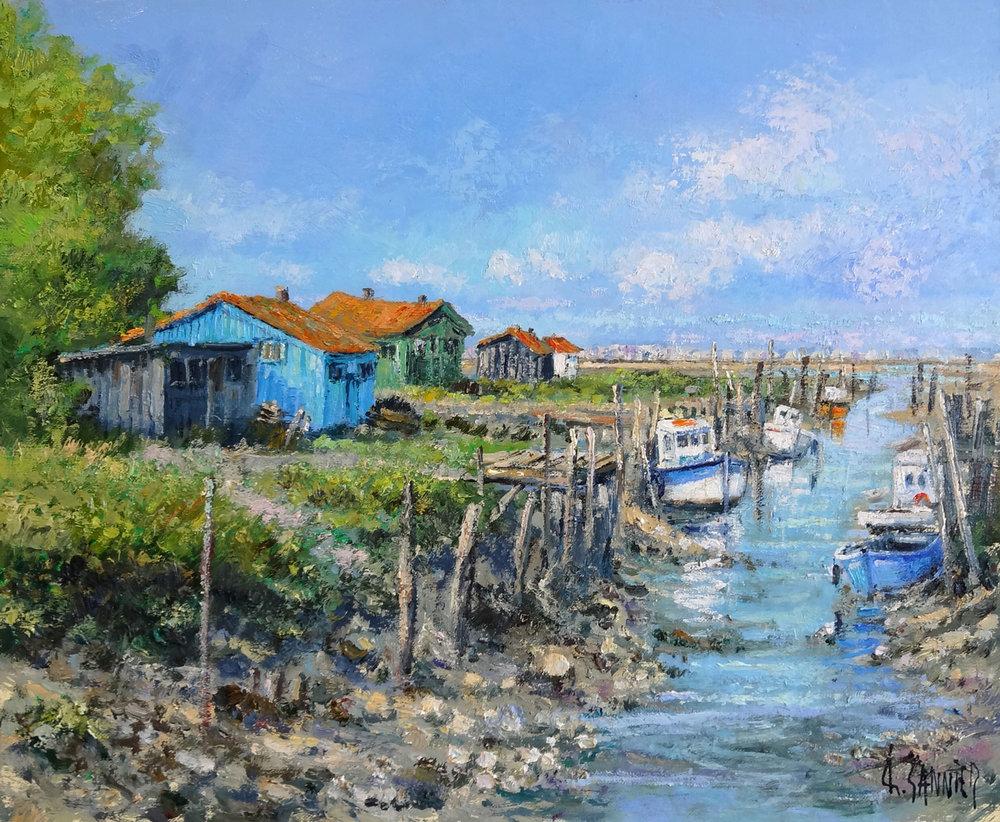 Le Canal sur l'Ile d'Oleron, 18 x 15 in.