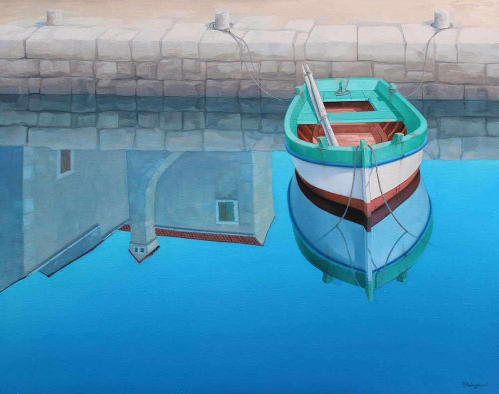 SEASHORE REFLECTIONS oil on canvas, 24 x 30 in.