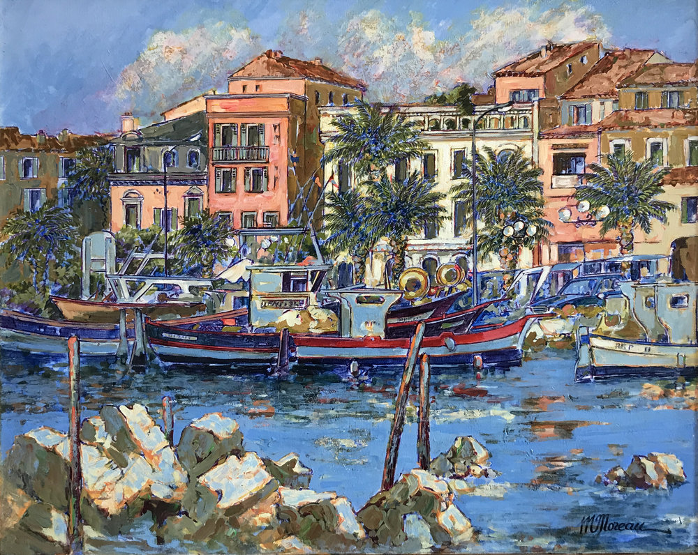 LE PORT DE SANARY  oil, 32 x 26 in.
