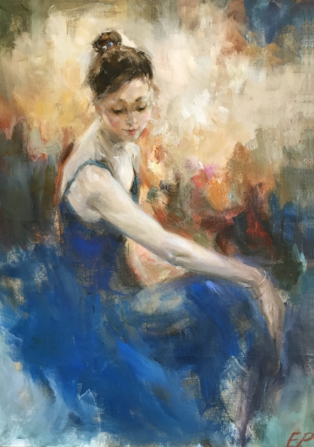 #105 The Girl In Blue (51x34in.).jpg