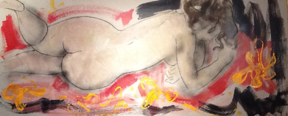 Adrianne  Mixed Media, 63 x 27 in.