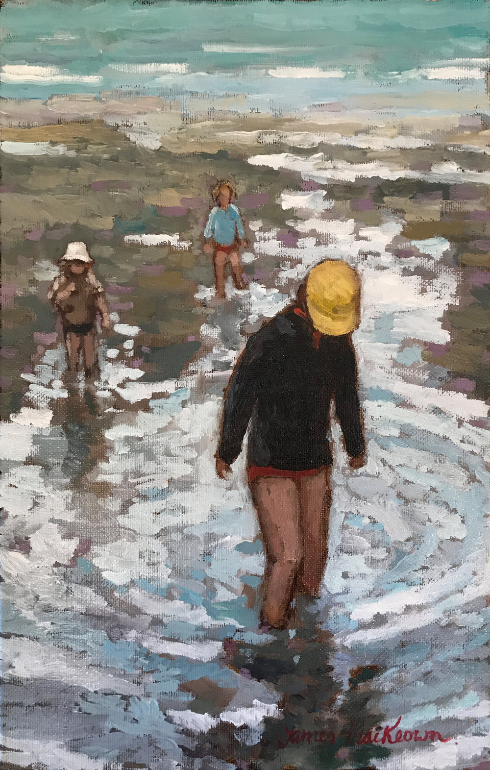 PADDLING   oil, 9 x 14 in.