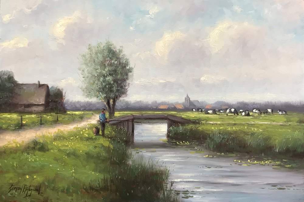 In The Polder  oil on panel, 10 x 15 in.