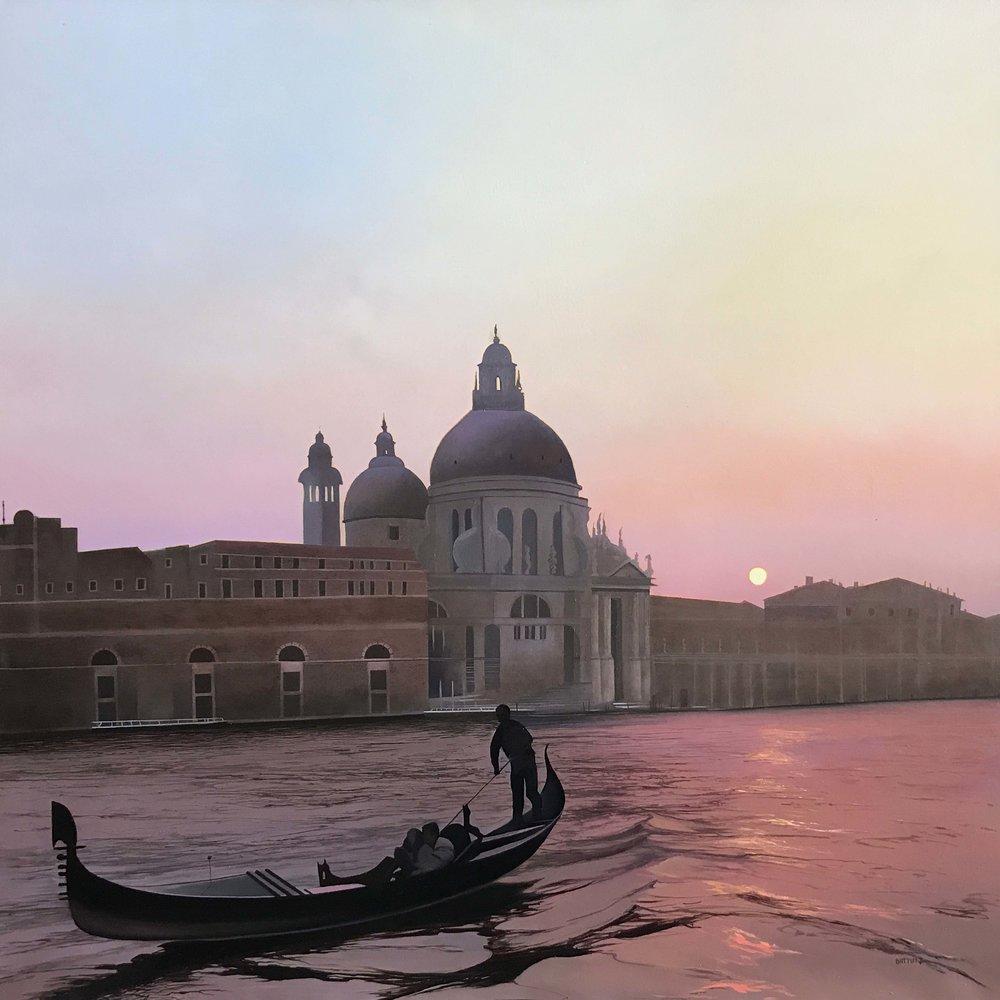 Battut- Les Amoureux de Venise-40x40- unframed for web.jpg
