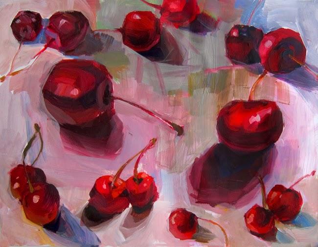 Cherry Still Life Painting