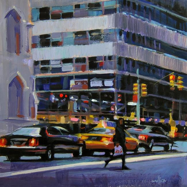 "Crossing Madison 2 15x15"" Acrylic $300"