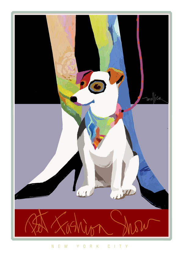Bandana Dog  Poster  Digital Print Only