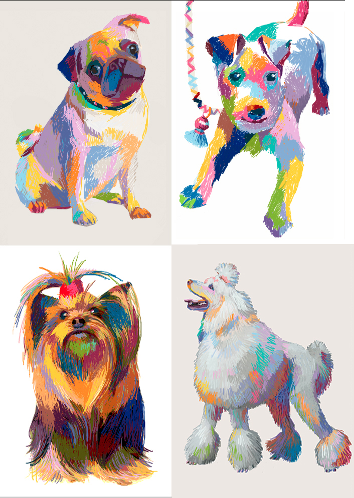 Pooch Du Jour  Digital Prints Only
