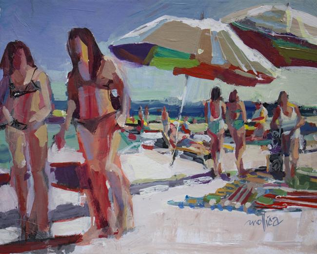 "Beach Stroll 10x8"" Acrylic"