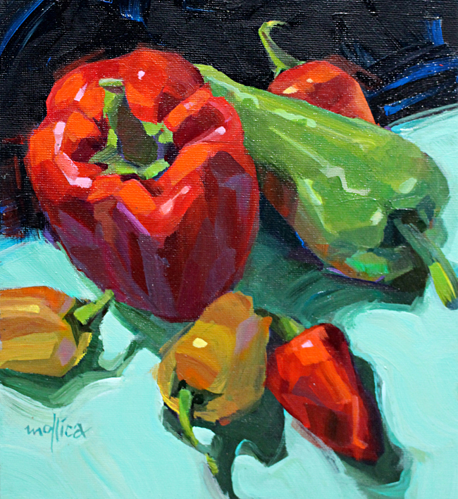 "Pepper Party  8x10""  Acrylic"