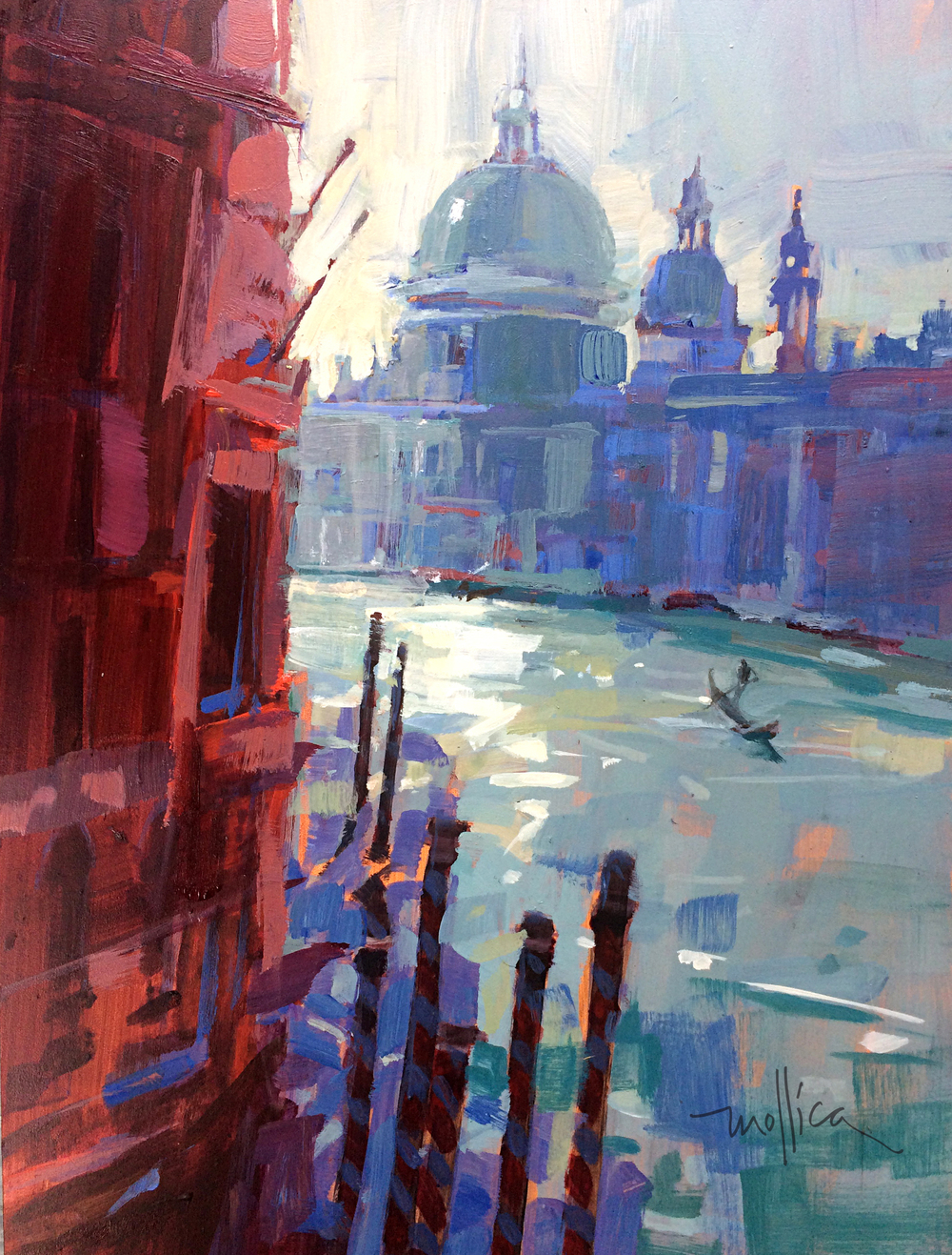 "Venetian Afternoon  12x16""  Acrylic"