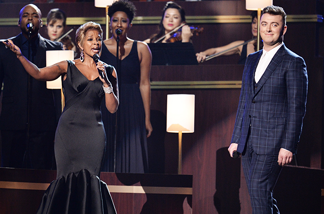 Grammy's 2015: Sam Smith & Mary J Blige