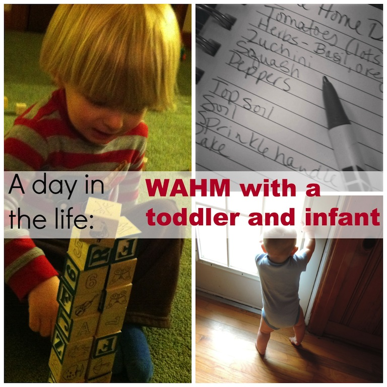 A day in the life of a WAHM with a toddler and an infant .jpg