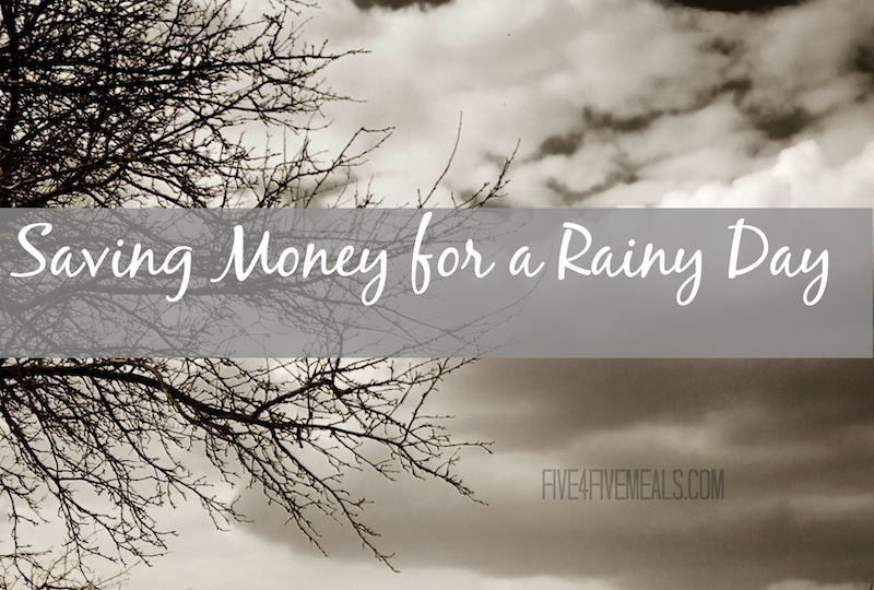 Save Money For Rainy Day Frugal Debt Free Life