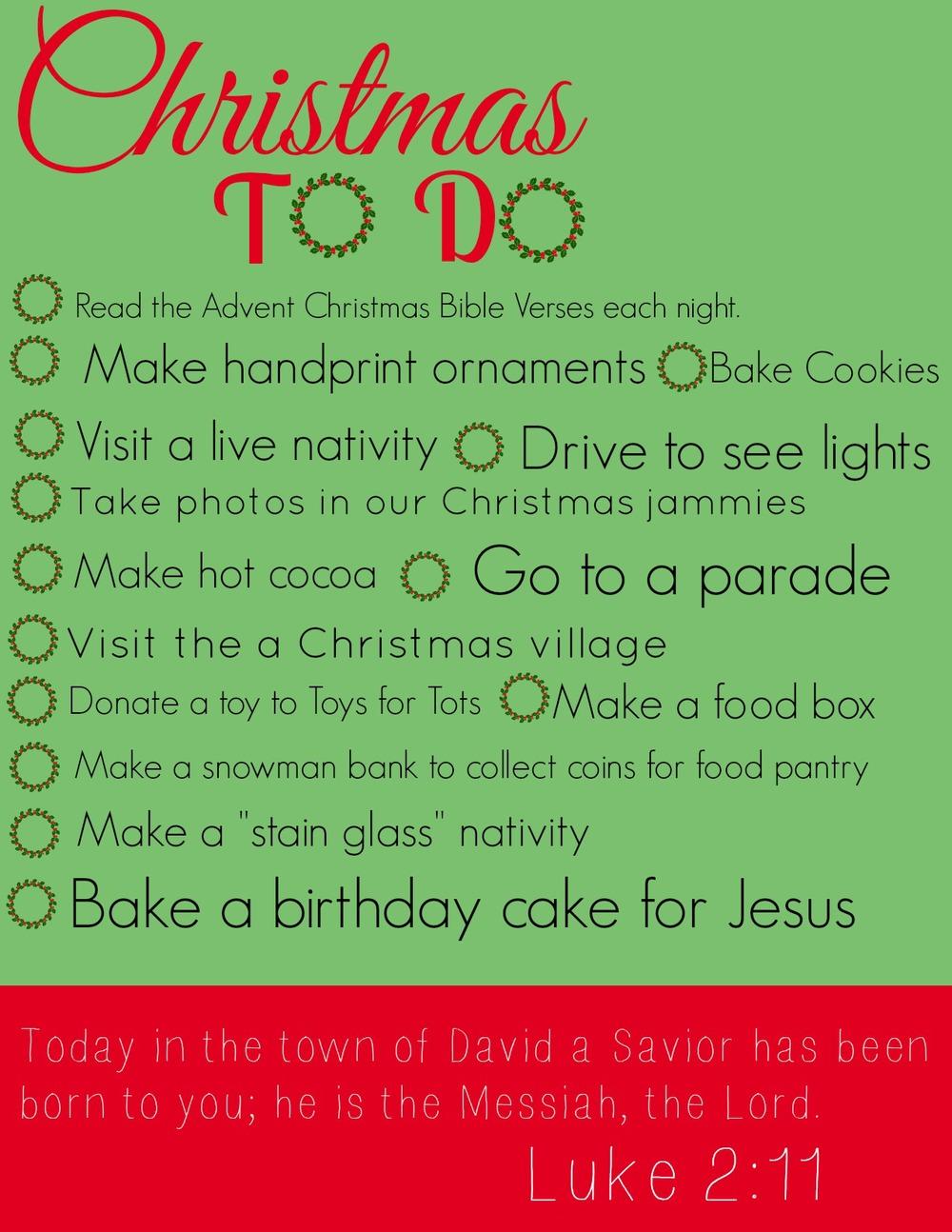 our christmas to do list 2013 free printable