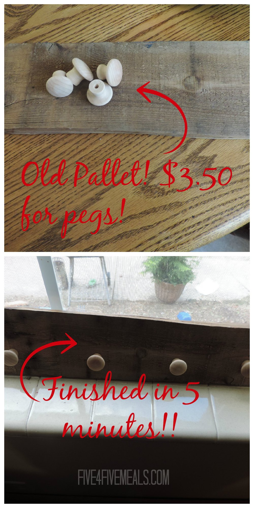 How to make a peg rack for less than $5 in five minutes out of an old pallet.jpg