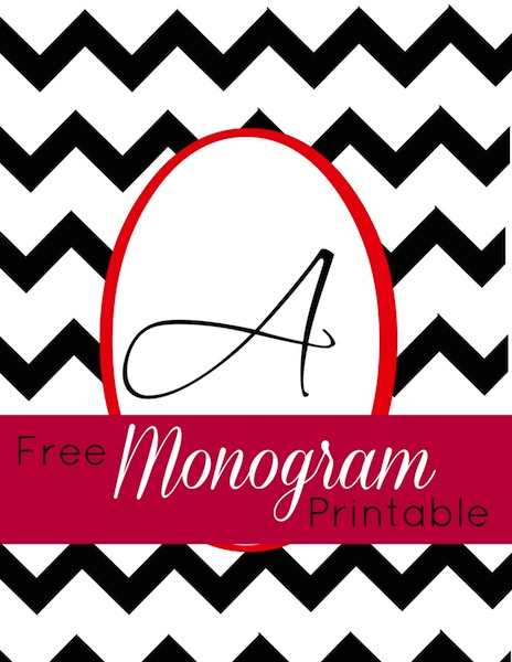 photo about Free Monogram Printable titled Printable Monogram pertinent for framing Frugal Financial debt Free of charge Lifestyle