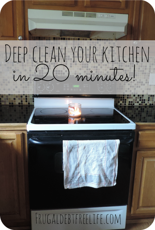 How i deep clean my kitchen in 20 minutes frugal debt for Deep clean kitchen