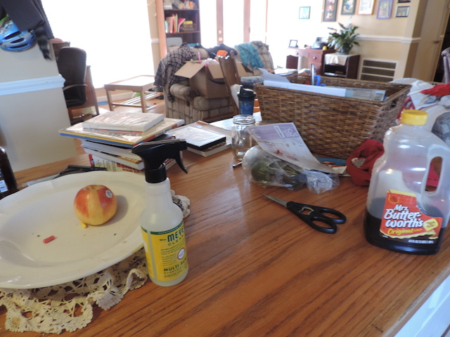 decluttering your kitchen counter tops to speed clean your kitchen