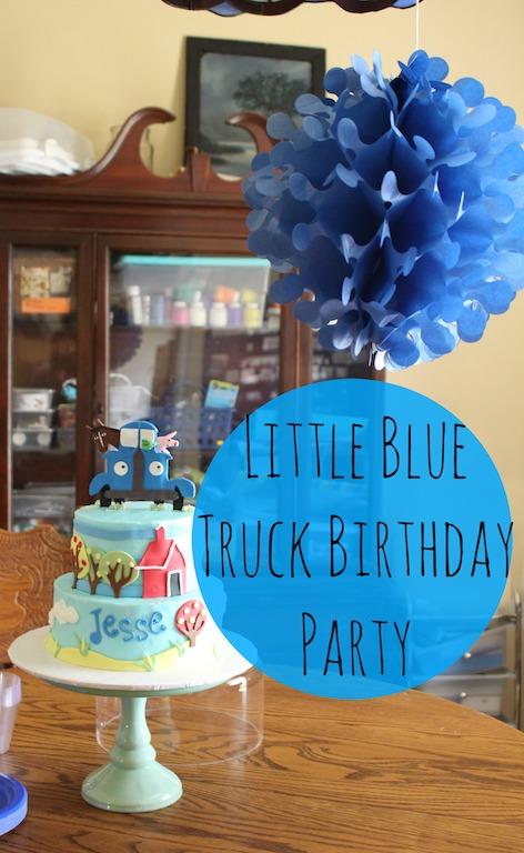 Little blue truck banner blue truck 1st birthday banner little blue truck birthday little blue truck high chair banner blue truck decor
